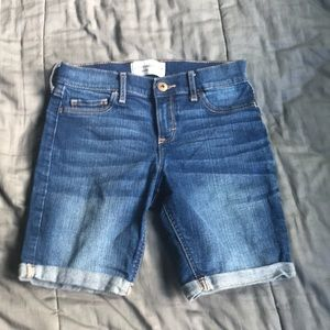 Abercrombie Dark Wash Bermuda Shorts